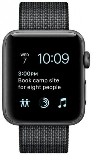 Смарт часы Apple Watch Series 2 38mm Space Gray Aluminum Case Black Woven Nylon