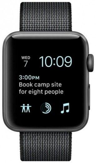 Смарт часы Apple Watch Series 2 38mm Space Gray Aluminum Case Black Woven Nylon