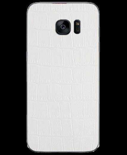 Кожаная наклейка White Alligator для Samsung Galaxy S7 (G930)