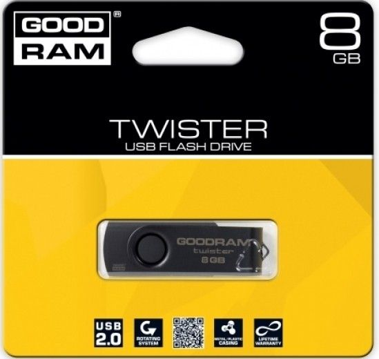 USB флеш накопитель GOODRAM 8 GB Twister (PD8GH2GRTSKKR9)