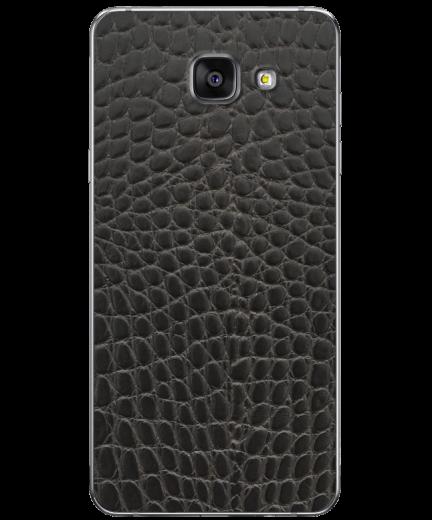 Кожаная наклейка Black Reptile для Samsung Galaxy A7 (2016)