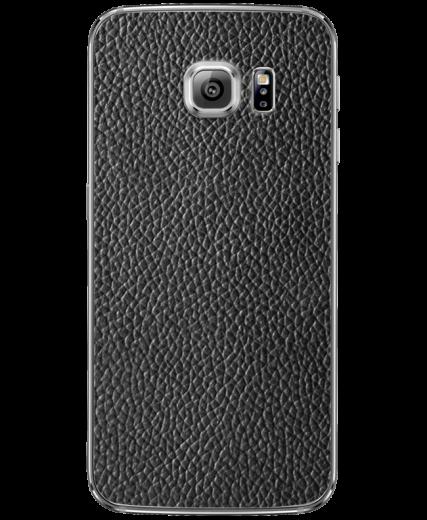 Кожаная наклейка Classic Black  для Samsung Galaxy S6 edge (G925)