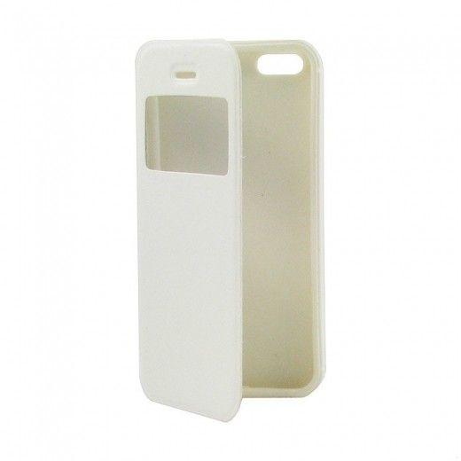 Чехол-книжка со смарт окошком МК Samsung J110 White