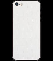 Кожаная наклейка White Alligator для iPhone 5S/SE