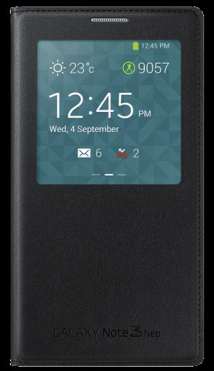 Чехол Samsung S View EF-CN750BBEGRU Black для Galaxy Note 3 Neo