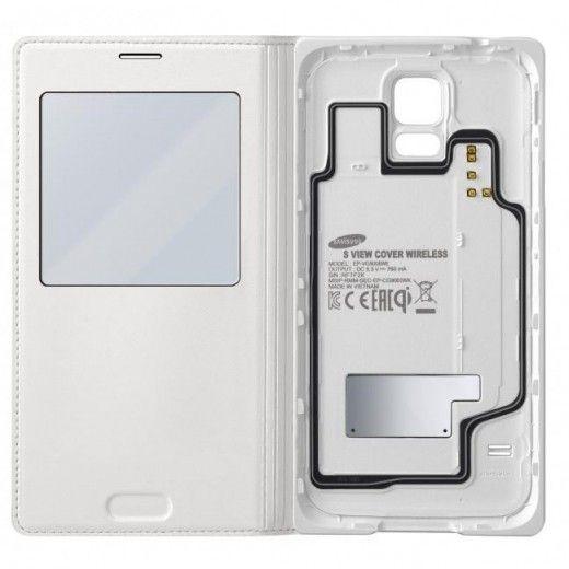 Чехол Samsung для беспроводной зарядки Galaxy S5 White (EP-VG900BWRGRU)