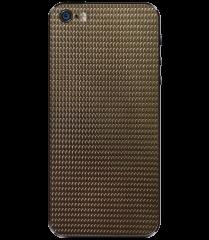 Кожаная наклейка Dark Gold для iPhone 5S/SE