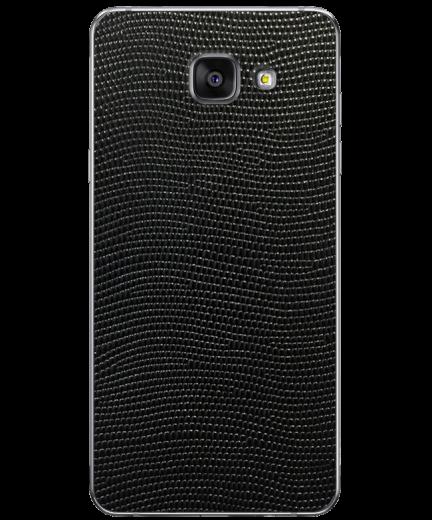 Кожаная наклейка Black Stingray для Samsung Galaxy A7 (2016)