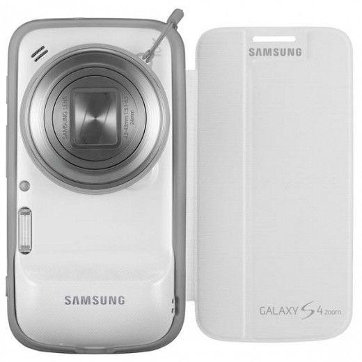 Чехол Samsung Zoom Flip Cover EF-GGS10FWEGWW White для Galaxy S4