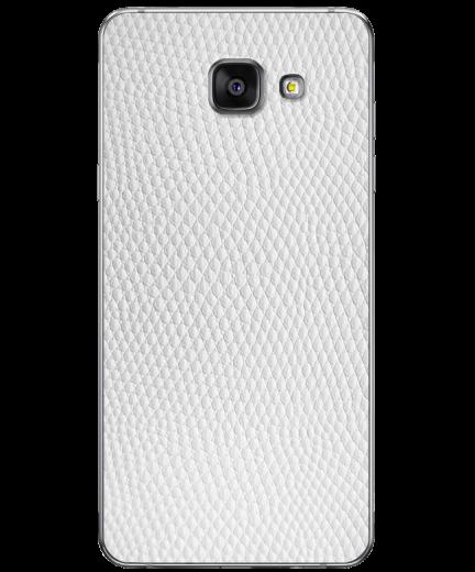 Кожаная наклейка White Pearl для Samsung Galaxy A7 (2016)
