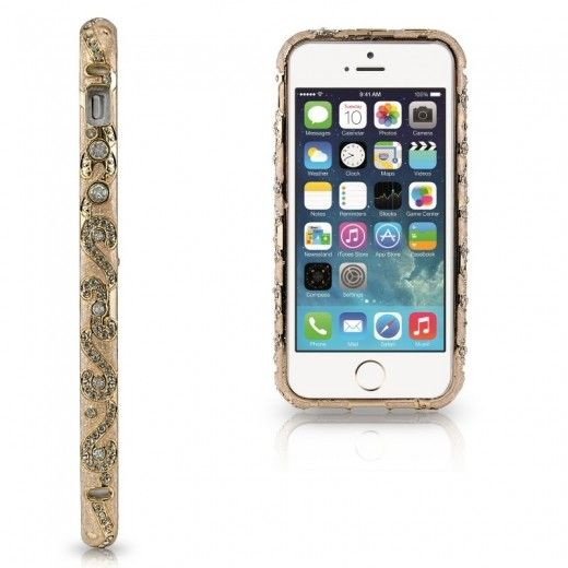 Бампер Newsh MERAL AND DIAMONDS iPhone 6 Gold
