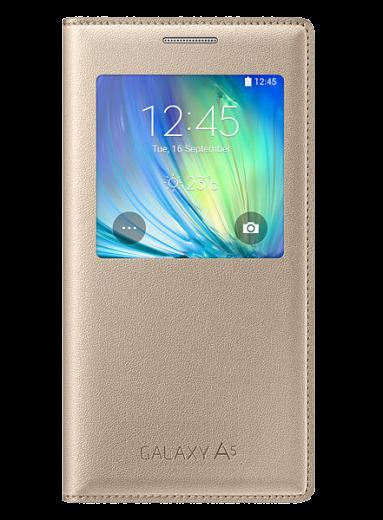 Чехол Samsung S View для Samsung Galaxy A5 500 Gold (EF-CA500BFEGRU)