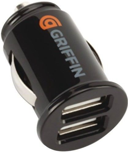 Автомобильное зарядное устройство Griffin PowerJolt Dual USB (GC23089) Black