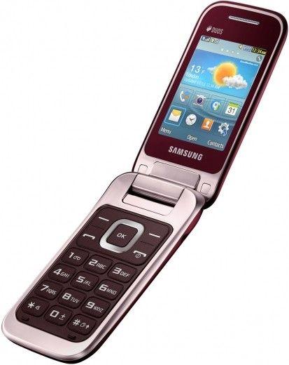 Мобильный телефон Samsung C3592 Wine Red