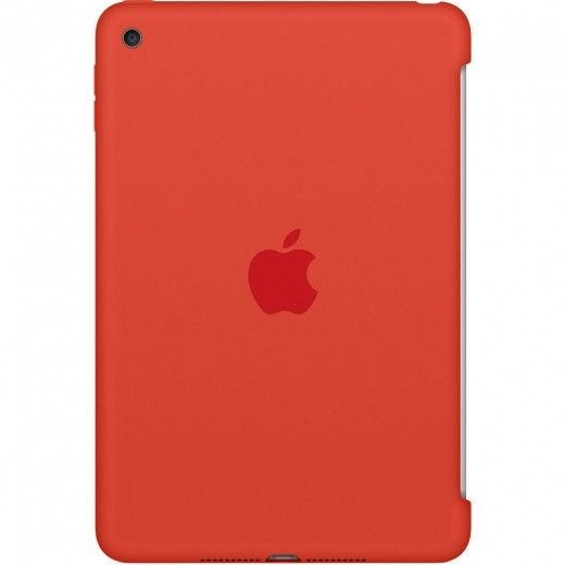 Силиконовый чехол Apple Silicone Case для  iPad mini 4 (MLD42ZM/A) Orange