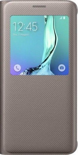 Чехол Samsung S View Cover для Samsung Galaxy S6 edge+ Gold (EF-CG928PFEGRU)