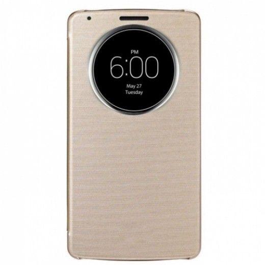 Чехол LG QuickWindow для LG G3s D724 Gold (CCF -490G.AGEUGD)