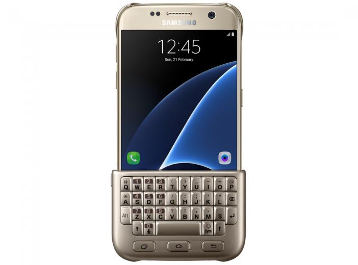 Чехол-клавиатура Samsung Cover для Galaxy S7 Gold (EJ-CG930UFEGRU)