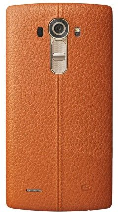 Накладка LG G4 Leather Battery Cover для LG G4 H818 Orange (CPR-110.APRAOG)
