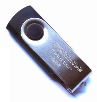 USB флеш накопитель Goodram Twister 4GB Silver/Black