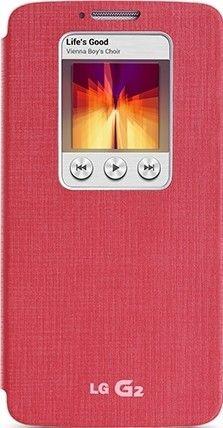 Чехол LG QuickWindow для LG G2 D802 Pink (CCF-240G.AGEUPK)
