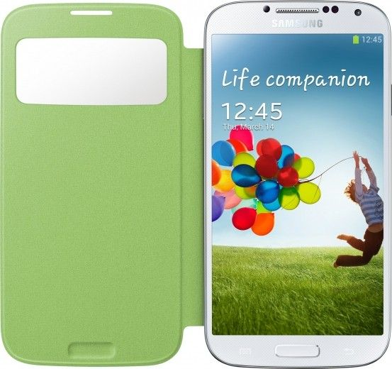 Чехол Samsung для Galaxy S4 I9500 S-View Yellow Green (EF-CI950BGEGWW)