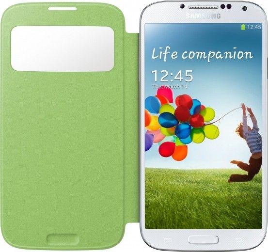 Чехол Samsung для Galaxy S4 I9500 S-View Yellow Green (EF-CI950BGEGWW)