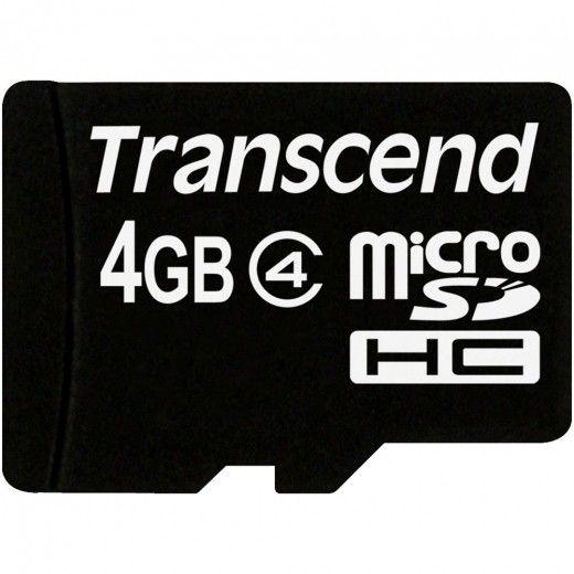 Карта памяти Transcend 4 GB microSDHC class 4