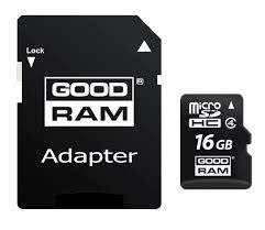 Карта памяти GOODRAM 16GB micro SD Class 4 micro + adapter  (M40A-0160R11)
