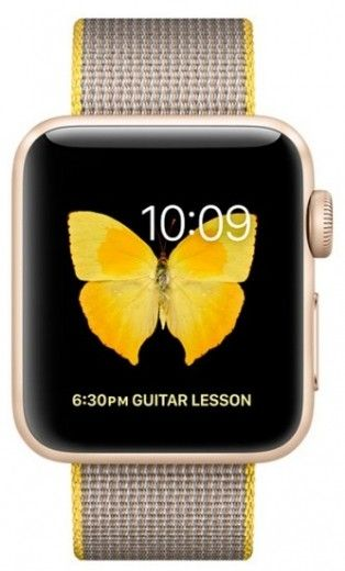 Смарт часы Apple Watch Series 2 38mm Gold Aluminum Yellow/Light Gray Woven Nylon