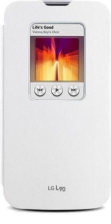 Чехол LG QuickWindow для LG Optimus L90 D405 White (CCF-380.AGEUWH)