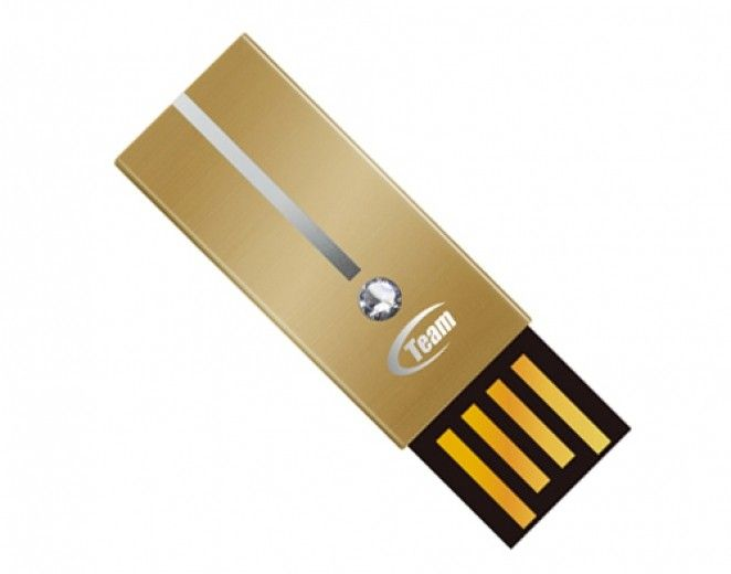 USB флеш накопитель Team Diamond 4GB Gold (TD6034GD01)