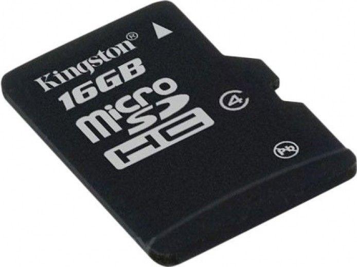 Карта памяти Kingston 16 GB microSD class 4 (SDC4/16GBSP)