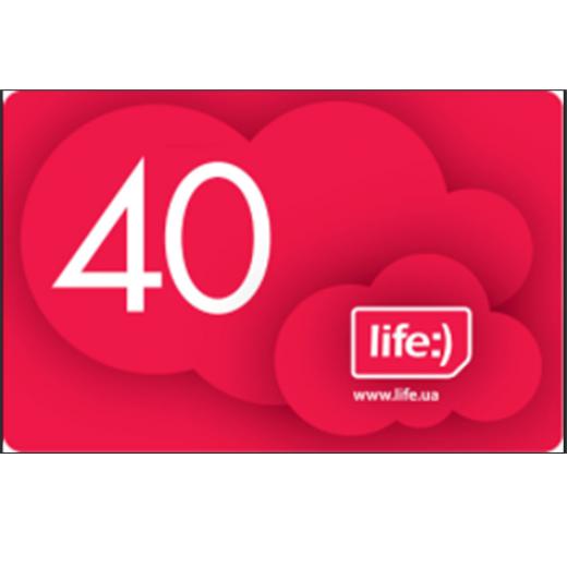 Ваучер поповнення рахунку Life 40
