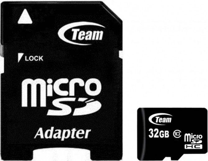 Карта памяти Team 32 GB Micro SD сlass 10 + адаптер