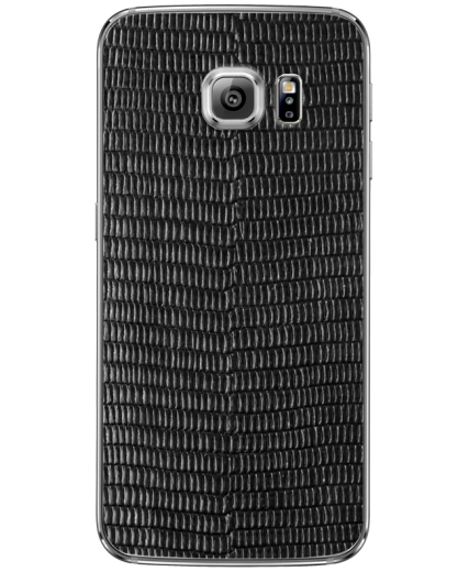 Кожаная наклейка Black Cayman для Samsung Galaxy S6 edge + (G928)