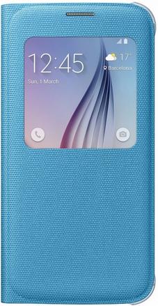 Чехол Samsung S View Zero для Samsung Galaxy S6 Blue (EF-CG920BLEGRU)