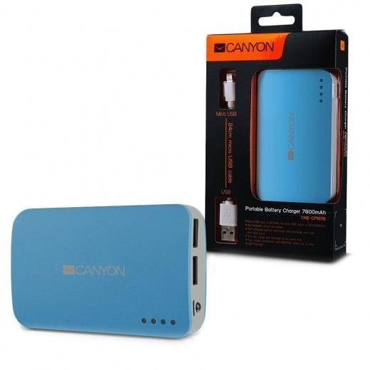 Портативная батарея CANYON CNE-CPB78BL 7800mAh Blue