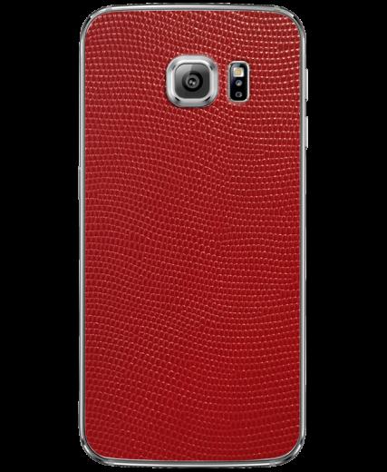 Кожаная наклейка Red Stingray для Samsung Galaxy S6 edge (G925)