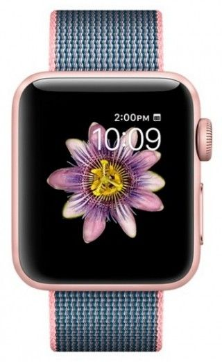 Смарт часы Apple Watch Series 2 38mm Rose Gold Aluminum Case Light Pink/Midnight Blue Woven Nylon