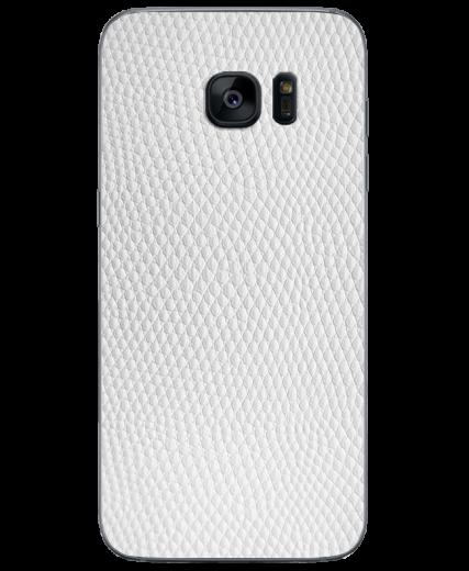 Кожаная наклейка White Pearl для Samsung Galaxy S7 (G930)