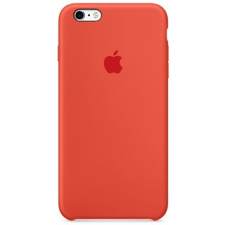 Силиконовый чехол Apple iPhone 6s Plus Silicone Case (MKXQ2) Orange