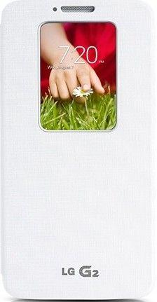 Чехол LG QuickWindow для LG G2 D802 White (CCF-240GAGEUWH)