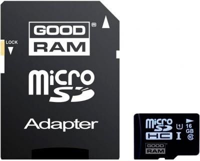 Карта памяти GOODRAM 16GB Micro SD UHS-1 + адаптер