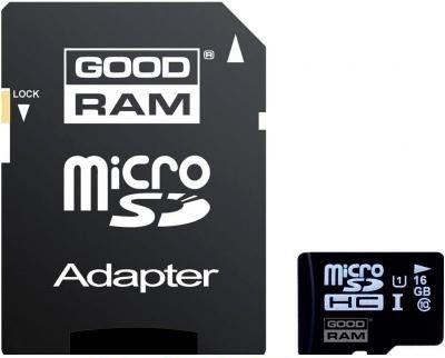 Карта памяти GOODRAM 16GB Micro SD UHS-1 + адаптер