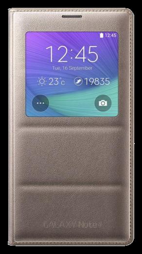 Чехол Samsung для Galaxy Note 4 S view EF-CN910BEEGRU Golden Camel