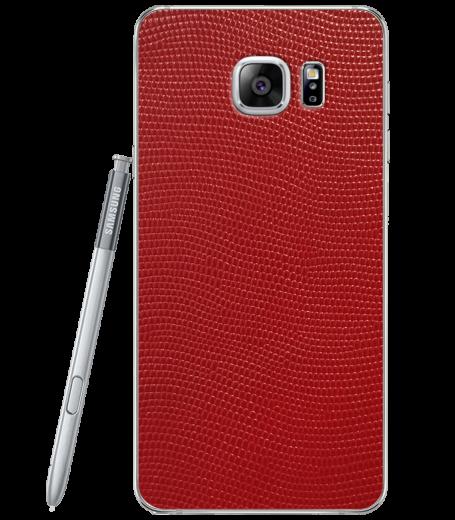 Кожаная наклейка Red Stingray для Samsung Galaxy Note 5 (N920)