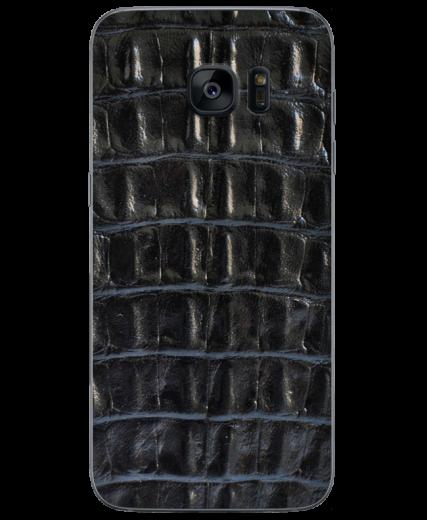 Кожаная наклейка Black Croco  для Samsung Galaxy S7 (G930)