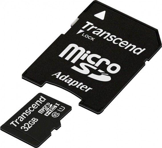 Карта памяти Transcend MicroSDHC UHS-I 32 GB Class 10 + SD-adapter (TS32GUSD10)