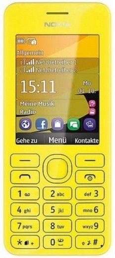 Мобильный телефон Nokia 206 Asha Dual Sim Yellow